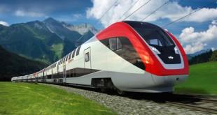 FV_Dosto_mit_Hintergrund_links.jpg Designentwurf fuer den neuen Fernverkehr-Doppelstockzug der SBB.  ©Copyright 2010 SBB CFF FFS